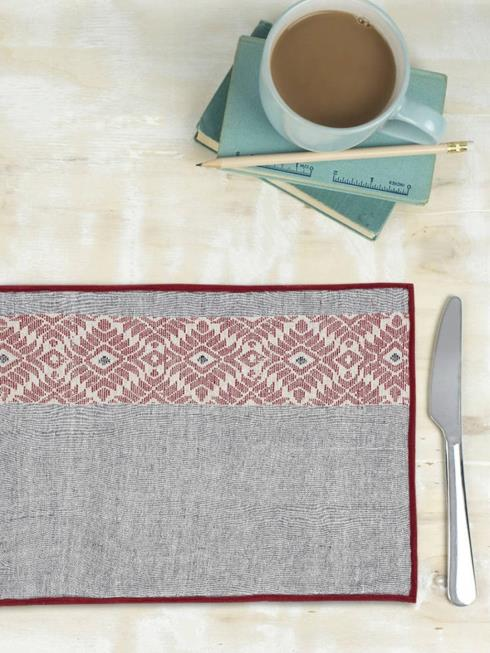 ArtEastri Furnishing Red & Grey Table Placemat