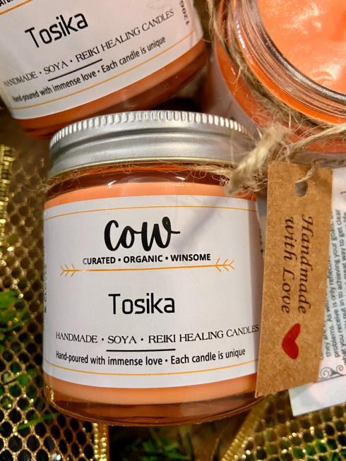 COW Home Natural & Natural  Aroma Candle