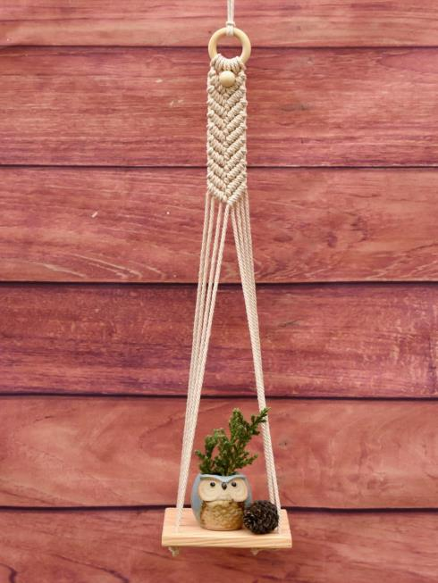 Indian Yards Decor Natural & Off White Wall Hanging
