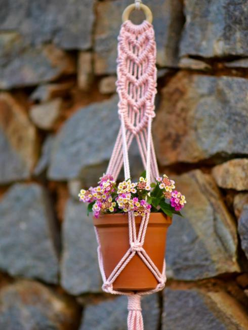 Indian Yards Decor Pink Plant Holders