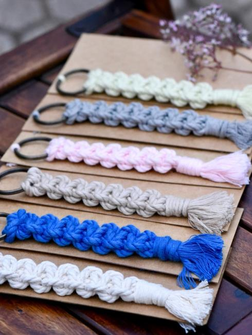 Indian Yards Decor Blue & Pink Key Chain