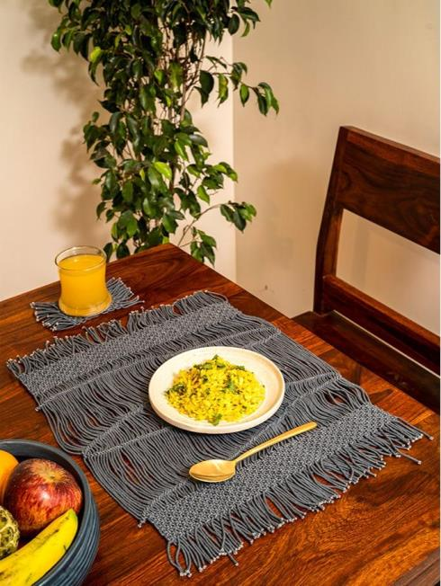 One O Eight Knots Furnishing Grey Table Placemat