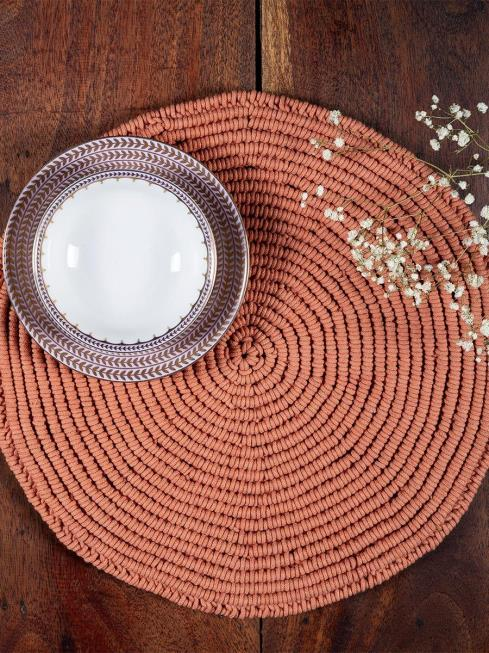 One O Eight Knots Furnishing Peach Table Placemat