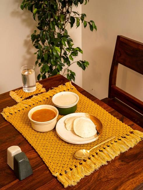 One O Eight Knots Furnishing Yellow Table Placemat