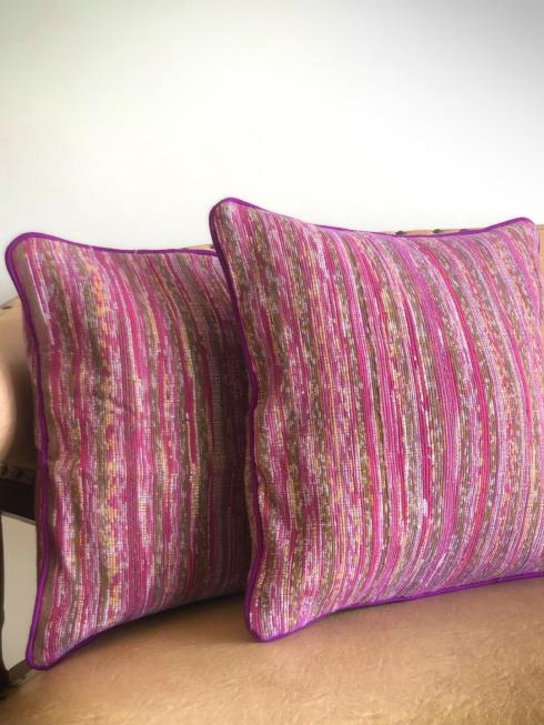 Rimagined Decor Pink & Purple Cushion Cover