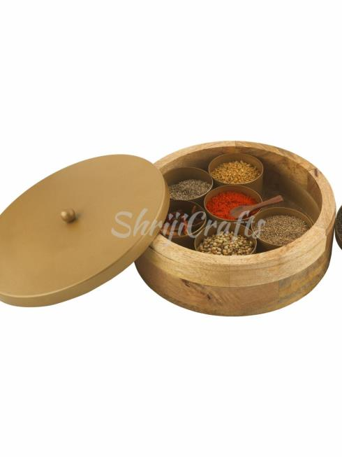 SHRIJI CRAFTS Decor MultiColor Spice Box