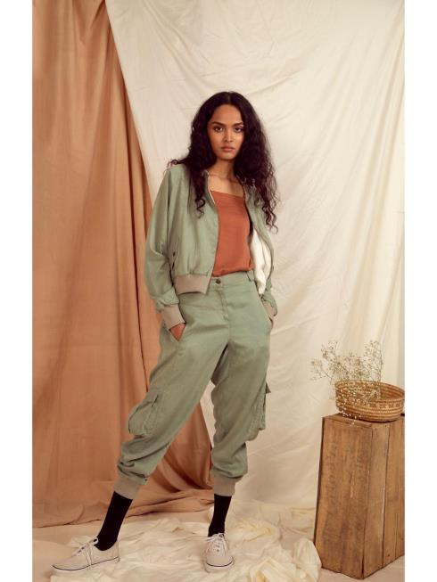 The Terra Tribe Women Brown & Turquoise Track Pant