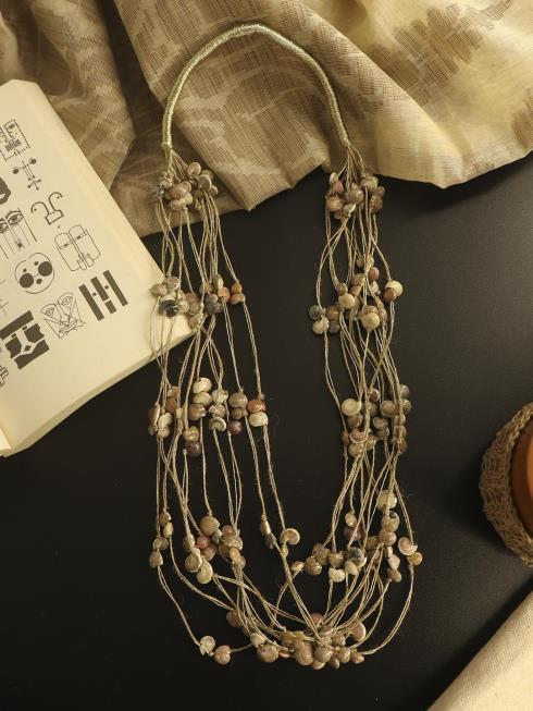 Whe Fashion Jewellery Brown Necklace
