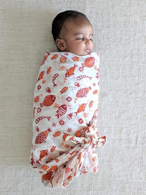 whitewater kids Kids Red Swaddle Blanket